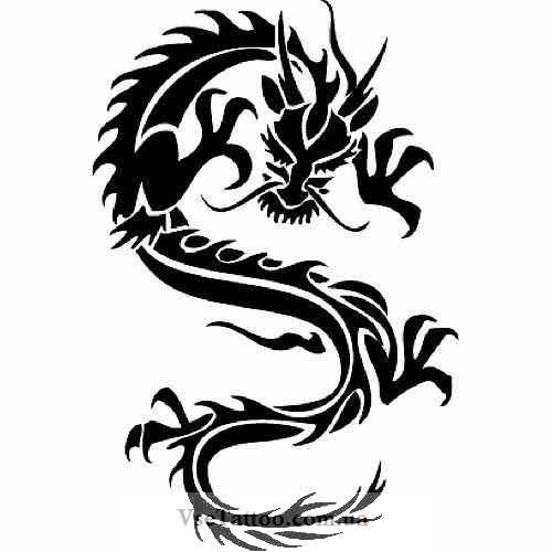 Крутые картинки тату китайский дракон (9)