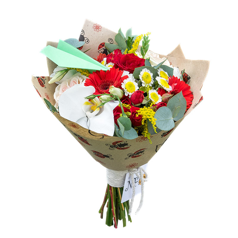 Лучшие букеты из роз на 1 сентября фото (1)