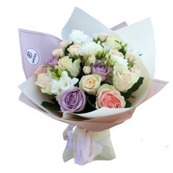 Лучшие букеты из роз на 1 сентября фото (23)