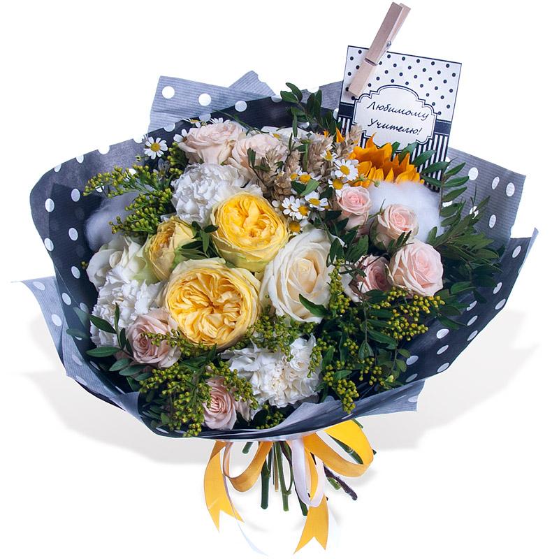 Лучшие букеты из роз на 1 сентября фото (27)