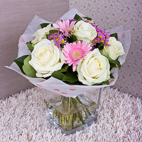 Лучшие букеты из роз на 1 сентября фото (35)