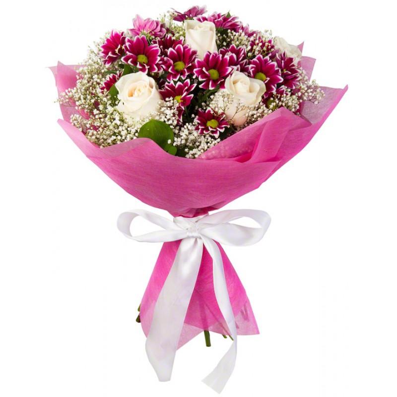 Лучшие букеты из роз на 1 сентября фото (39)