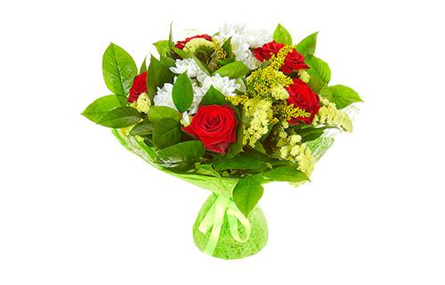 Лучшие букеты из роз на 1 сентября фото (7)
