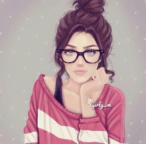 Нарисованные фото для девочек на аву в ВК (1)
