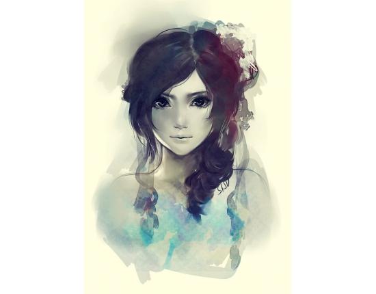 Нарисованные фото для девочек на аву в ВК (13)