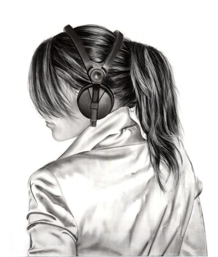 Девушки нарисованные карандашом картинки на аву