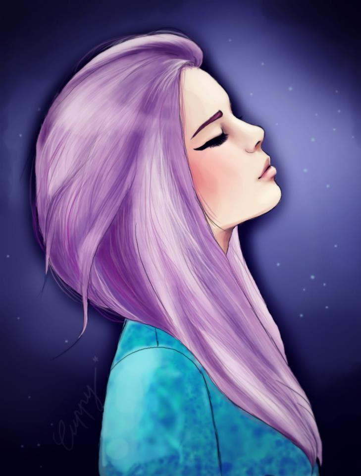 Нарисованные фото для девочек на аву в ВК (19)
