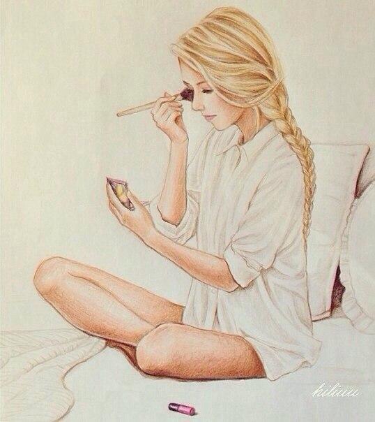 Нарисованные фото для девочек на аву в ВК (24)