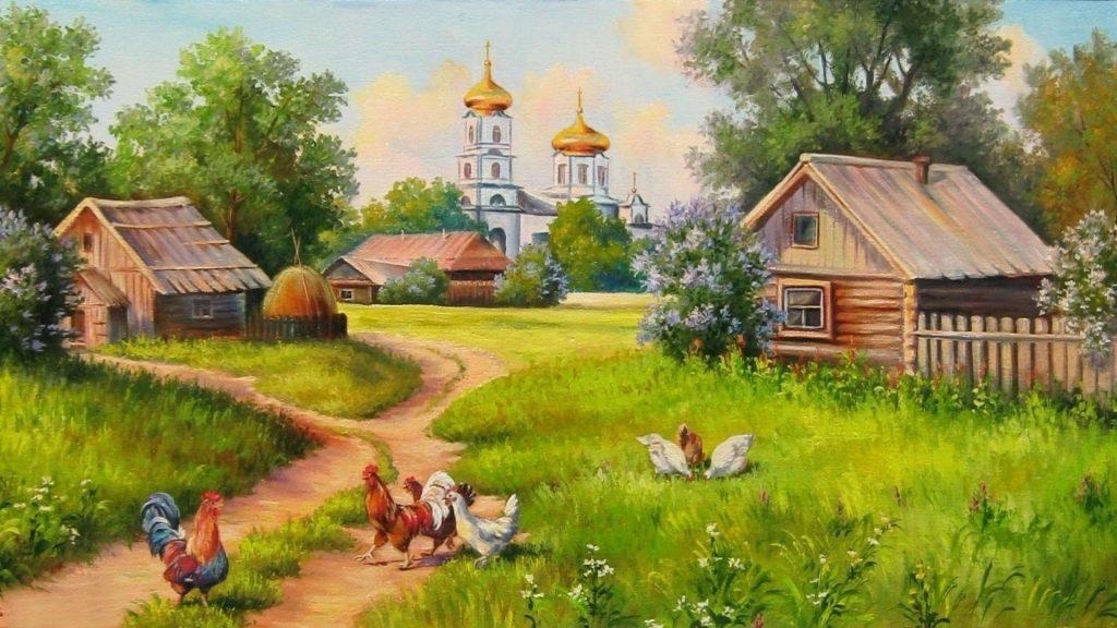 Обои для рабочего стола сентябрь в деревне (1)