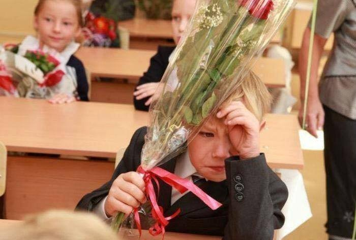 Смешные фото школьников 1 сентября - лучшие фото (1)