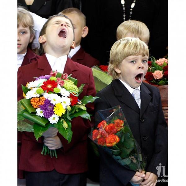 Смешные фото школьников 1 сентября - лучшие фото (10)