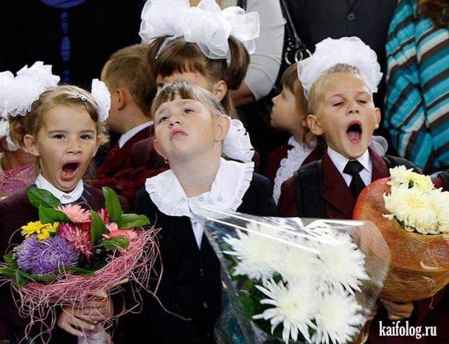 Смешные фото школьников 1 сентября   лучшие фото (18)