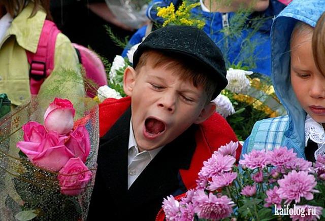 Смешные фото школьников 1 сентября - лучшие фото (19)