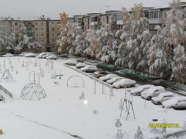 Снег в сентябре картинки прикольные (8)