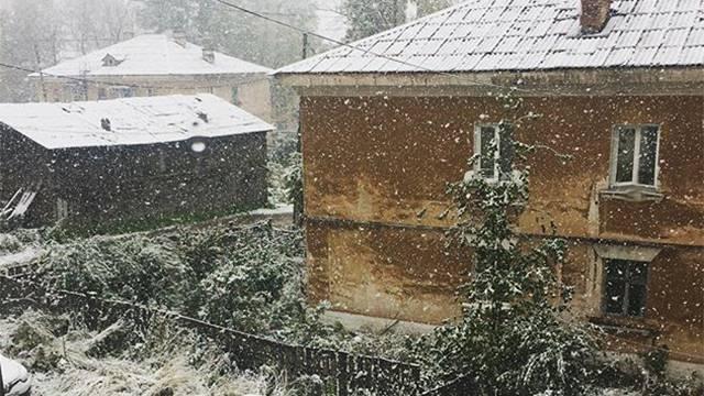 Снег в сентябре картинки прикольные (9)