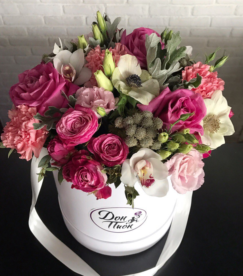 С днем рождения картинки цветы в коробках (12)