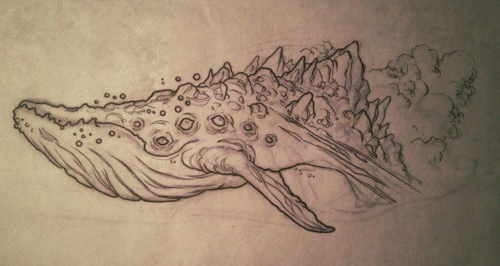 Тумблер картинки для срисовки кит - подборка (14)