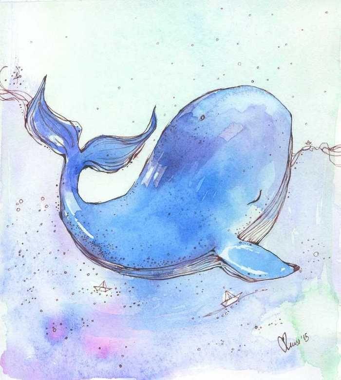 Тумблер картинки для срисовки кит - подборка (18)