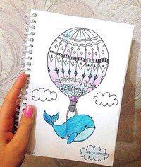 Тумблер картинки для срисовки кит - подборка (8)