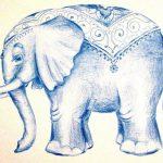 Удивительные картинки со слоном рисованные