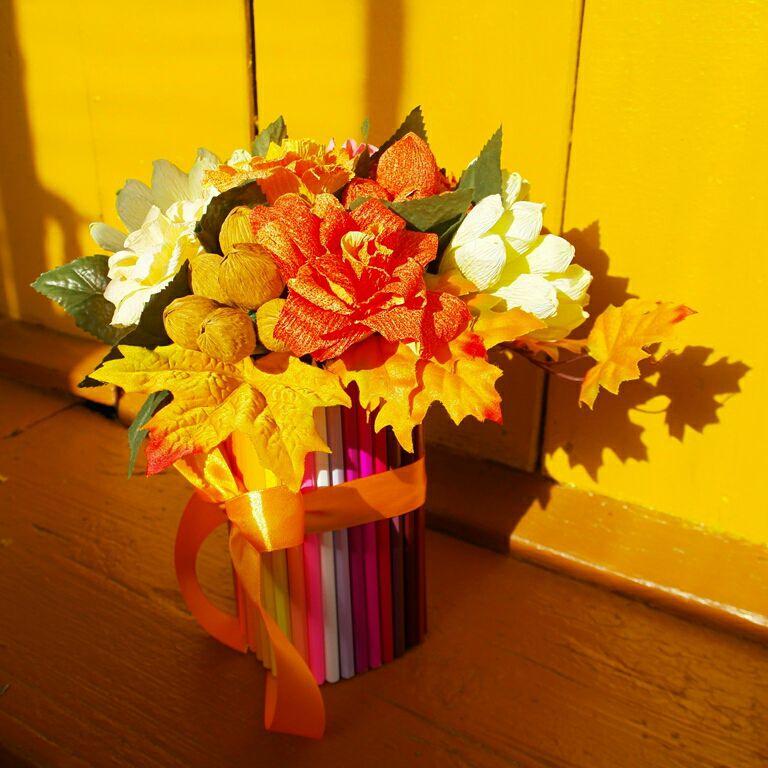 Цветочные композиции к дню учителя   фото (19)