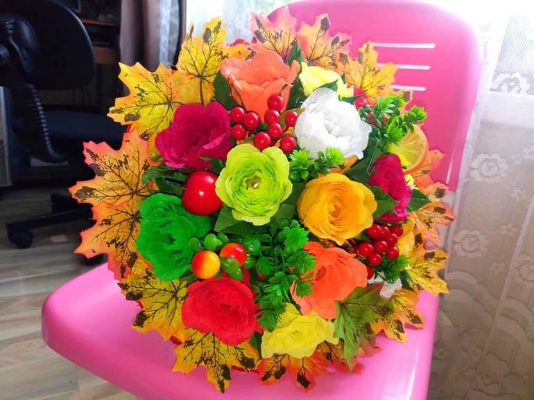 Цветочные композиции к дню учителя   фото (2)