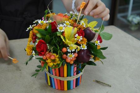 Цветочные композиции к дню учителя   фото (4)