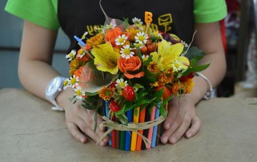 Цветочные композиции к дню учителя   фото (6)