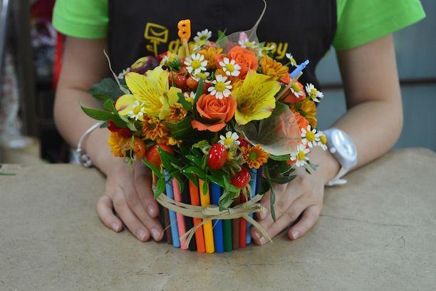 Цветочные композиции к дню учителя   фото (7)