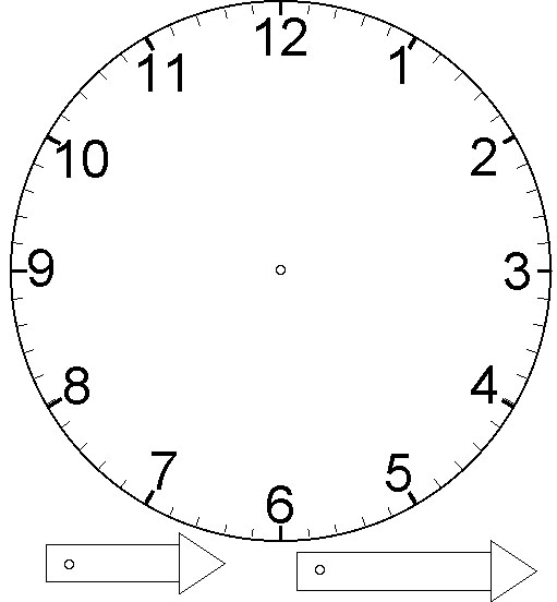 Часы распечатать для обучения   подборка (12)