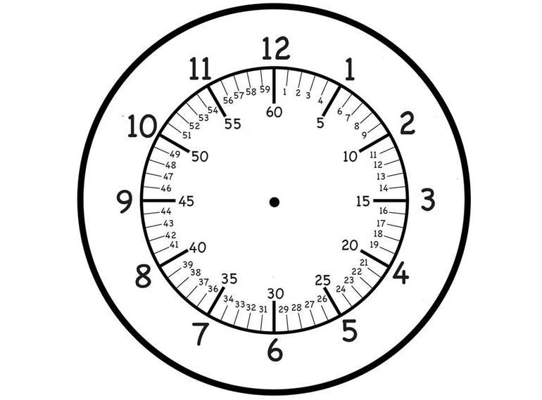 Часы распечатать для обучения   подборка (14)