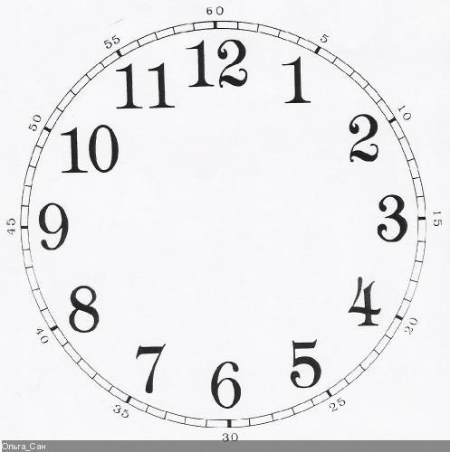 Часы распечатать для обучения   подборка (2)