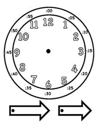 Часы распечатать для обучения   подборка (4)