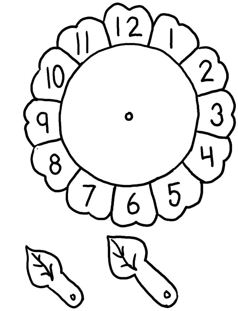 Часы распечатать для обучения - подборка (6)