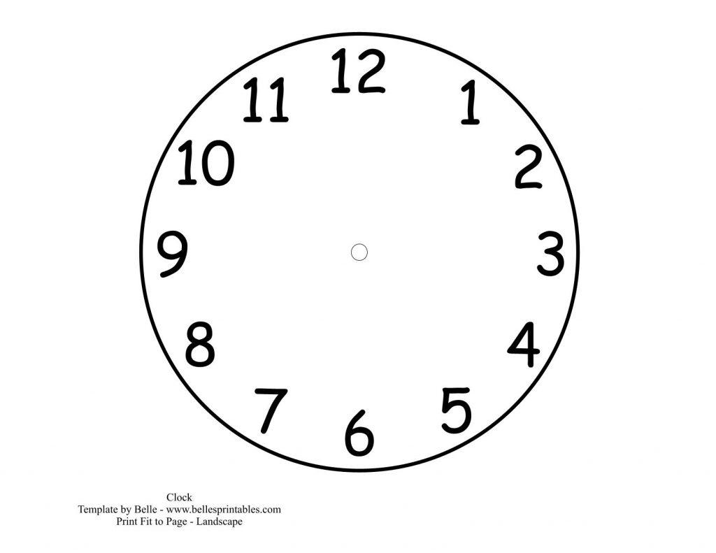 Часы распечатать для обучения - подборка (9)