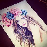 Что нарисовать когда нет фантазии для девочек 13 лет - рисунки (2)