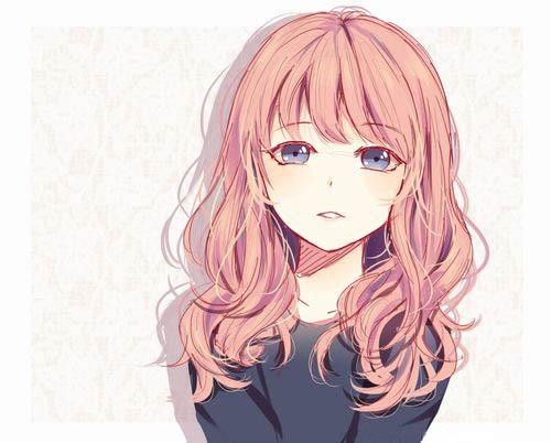 Аниме девушка с цветными волосами003