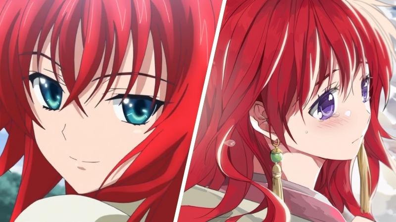 Аниме девушка с цветными волосами018