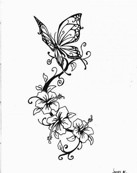 Бабочка чб рисунок и картинки красивые008