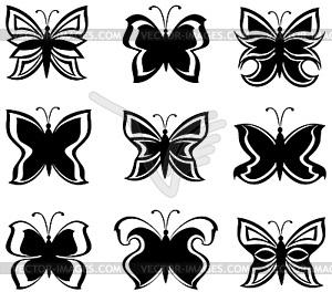 Бабочка чб рисунок и картинки красивые014