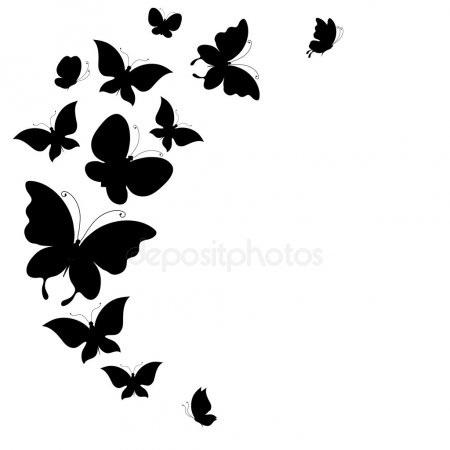 Бабочка чб рисунок и картинки красивые017