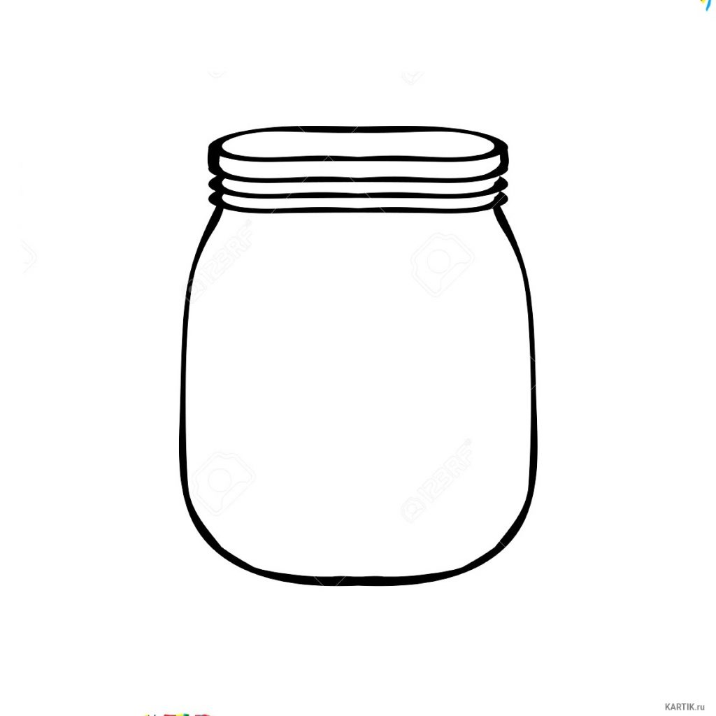 Баночка варенья рисунок и срисовки005