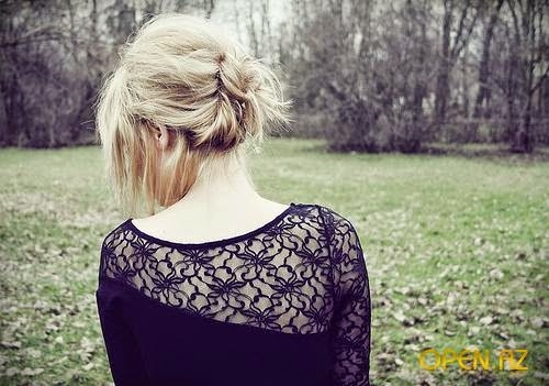 Картинка блондинок с короткими волосами со спины