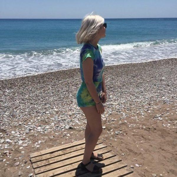 Блондинки с короткими волосами на аву со спины015