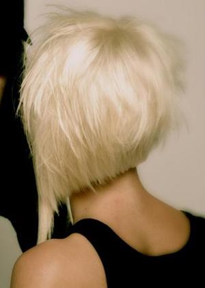 Блондинки с короткими волосами на аву со спины022