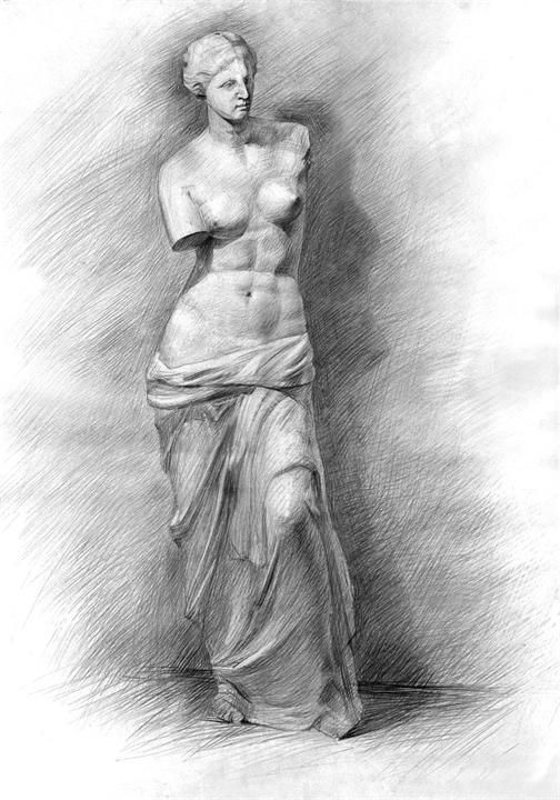 Венера Милосская рисунок - подборка (1)