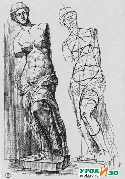 Венера Милосская рисунок - подборка (2)