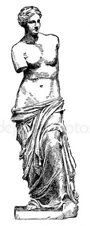 Венера Милосская рисунок - подборка (7)