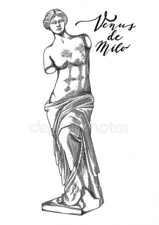 Венера Милосская рисунок - подборка (8)