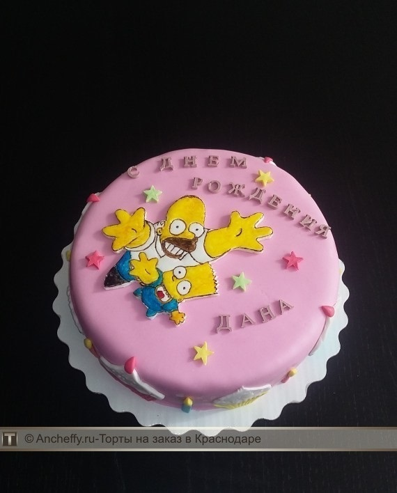 Вкусные торты Барта Симпсона001